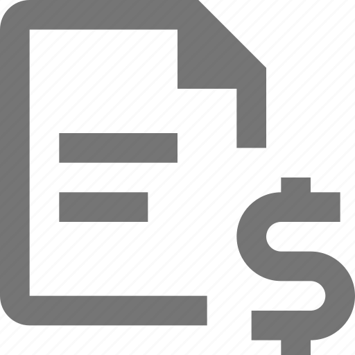 currency, document, dollar, file, money, paper, sheet, text icon