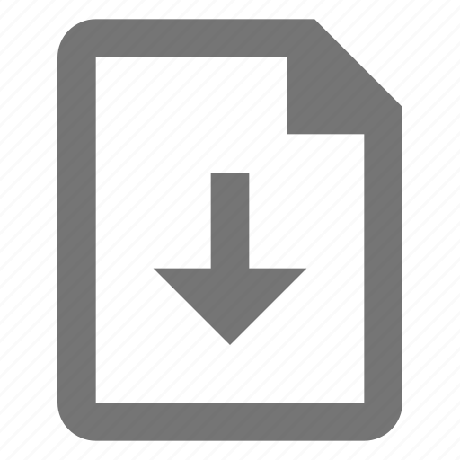 arrow, document, down, download, file, paper, save, sheet icon