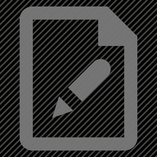 edit, file, pen, pencil icon