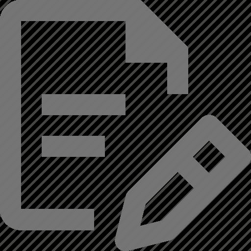 edit, file, pen, pencil, text icon