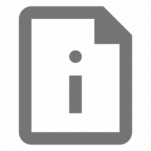 file, information icon