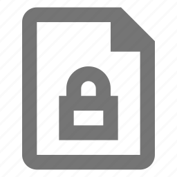 document, file, lock, paper, password, protect, security, sheet icon