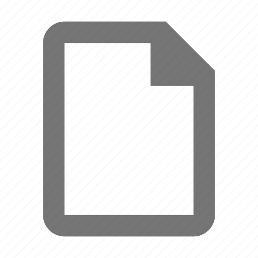 blank, document, empty, file, paper, sheet icon
