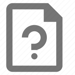 file, help, question icon