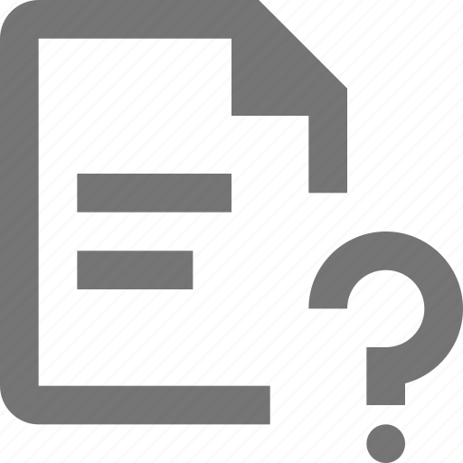 file, help, question, text icon