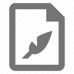 document, edit, feather, file, paper, quill, sheet, write icon