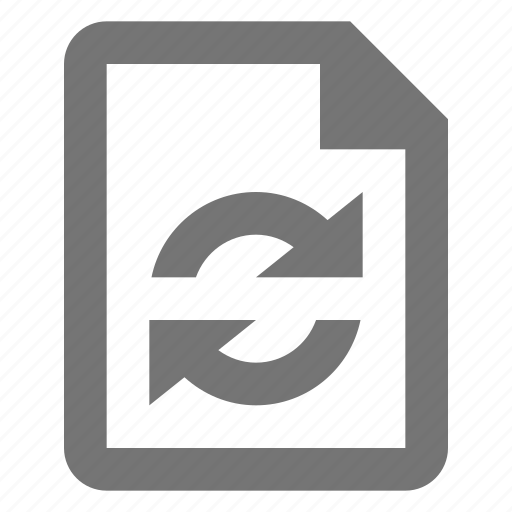arrows, file, refresh, reload, sync icon