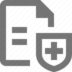 document, file, paper, protect, security, sheet, shield, text icon