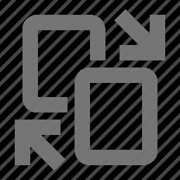 arrows, files, swap icon