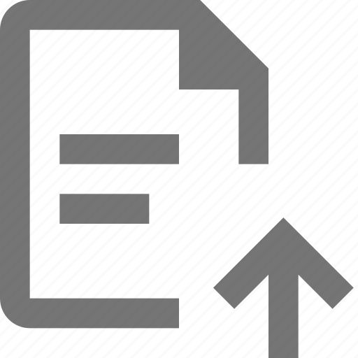 arrow, document, file, paper, sheet, text, up, upload icon