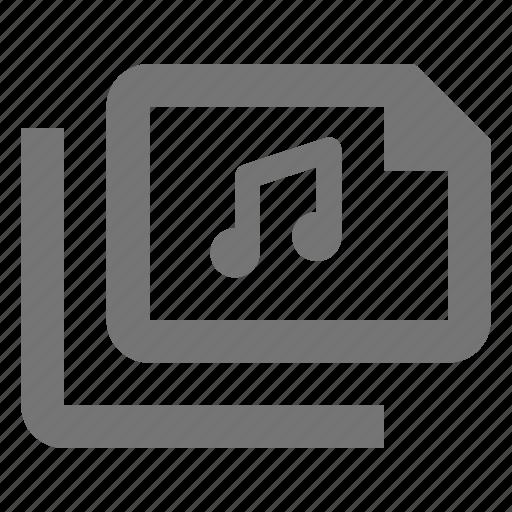 audio, document, files, media, music, paper, sheet icon