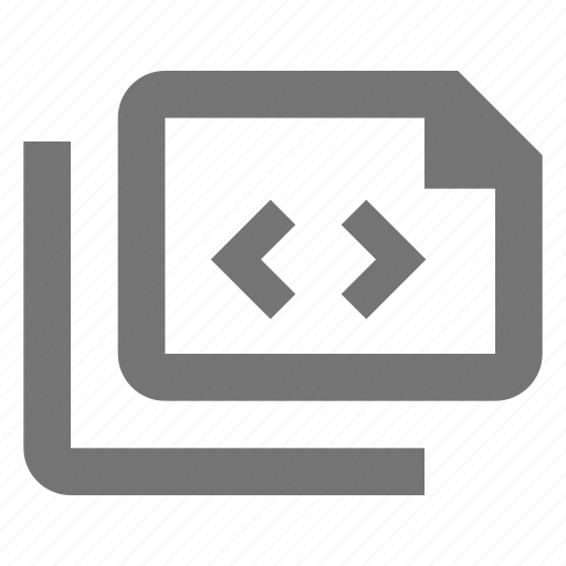 coding, document, files, language, paper, programming, sheet icon