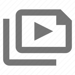 document, files, media, movie, paper, sheet, video icon