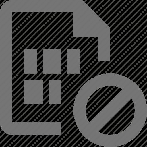 block, file, stop icon