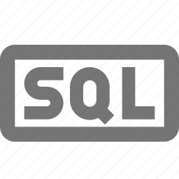 coding, document, format, paper, programming, sheet, sql icon