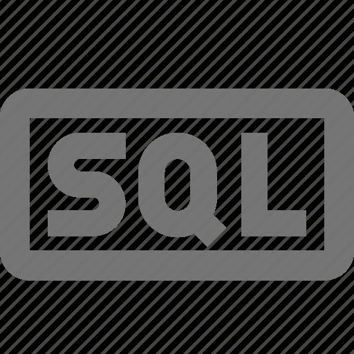 coding, programming, sql icon