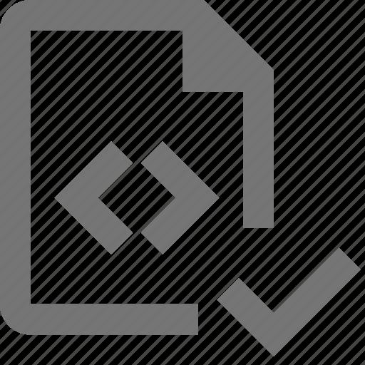 check, coding, file, files, programming, select icon
