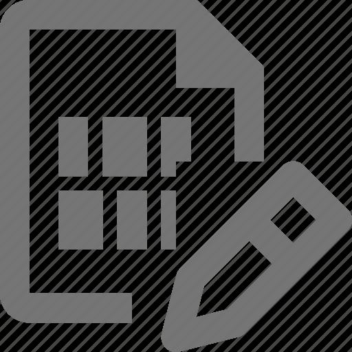 edit, file, pencil icon
