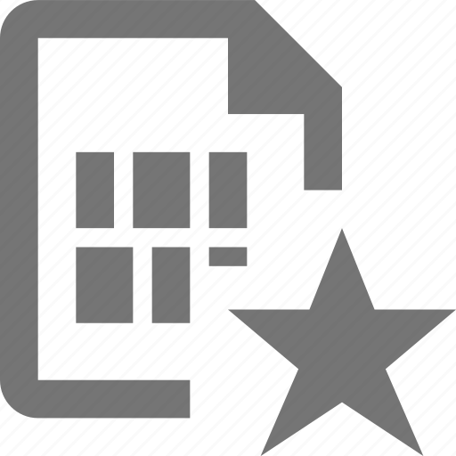 document, favorite, file, format, paper, save, sheet, star icon