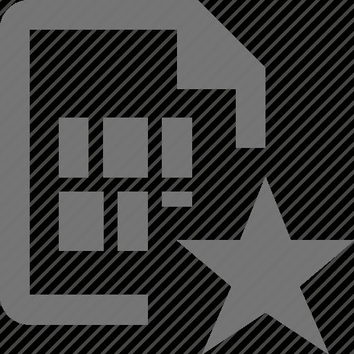 favorite, file, star icon