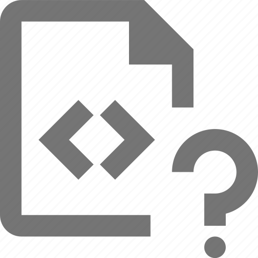 coding, document, file, format, paper, programming, question, sheet icon