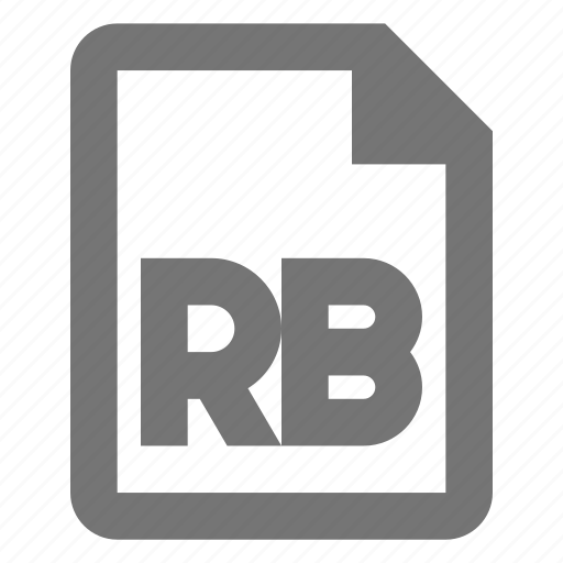 coding, document, file, format, paper, programming, rb, sheet icon