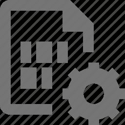configuration, file, files, gear, settings icon