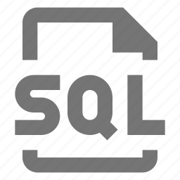 coding, file, programming, sql icon
