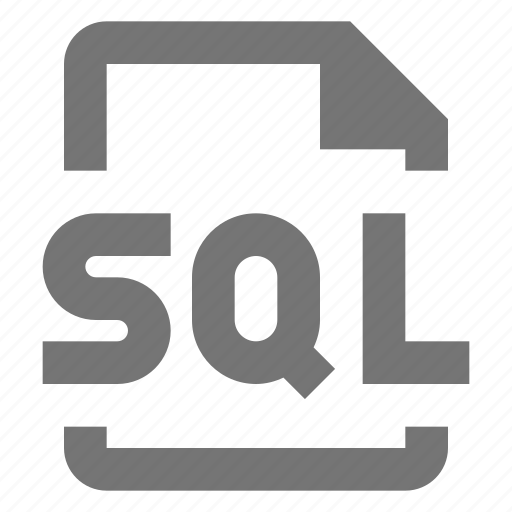 coding, document, file, format, paper, programming, sheet, sql icon