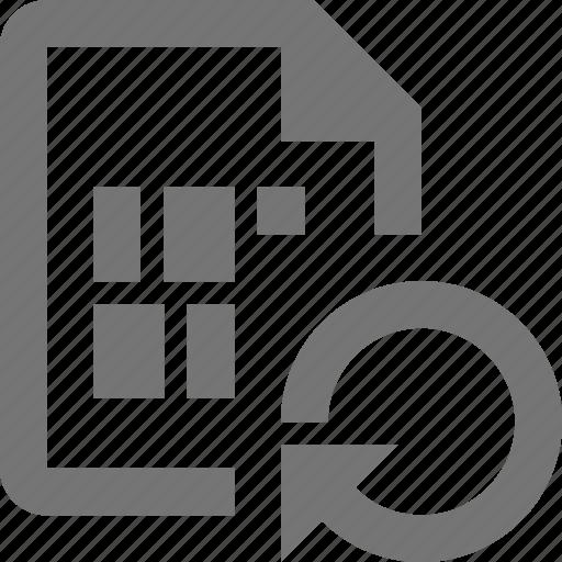arrow, file, refresh, reload, sync icon