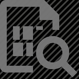 file, magnify, search, view icon