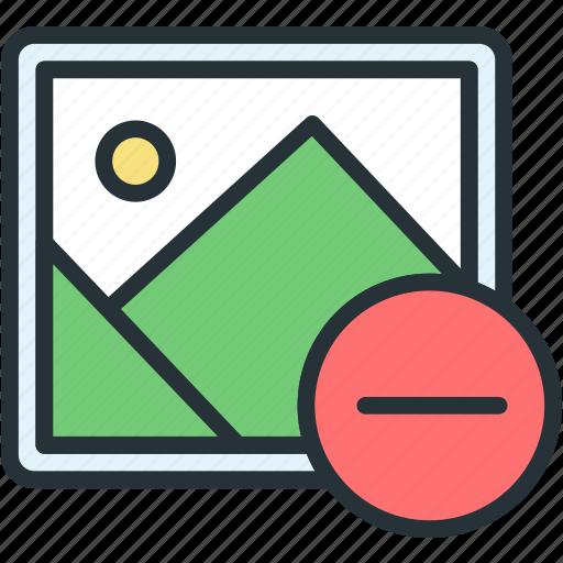 files, image, minus, picture icon
