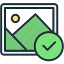 check, files, image, picture icon