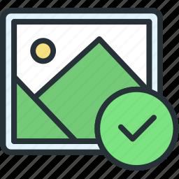 check, files, image, picture icon
