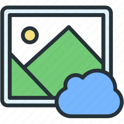 cloud, files, image, picture icon