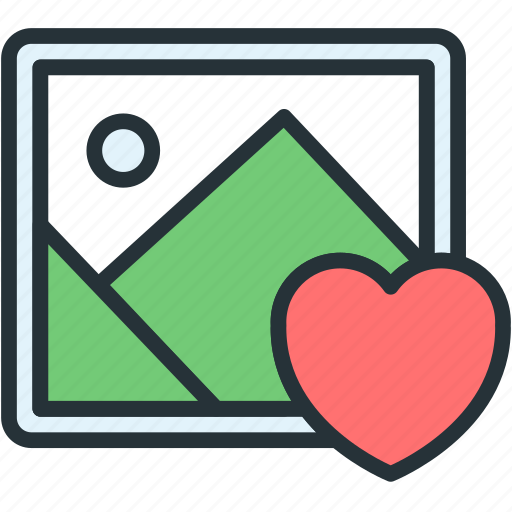 files, image, like, picture icon