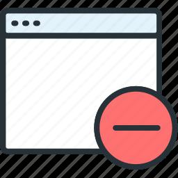 browser, files, remove icon