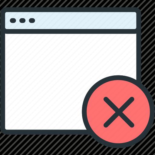 browser, close, files icon