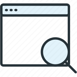browser, files, search icon