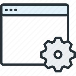 browser, files, settings icon