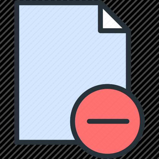 files, minus icon