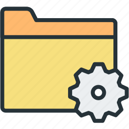 files, folder, settings icon