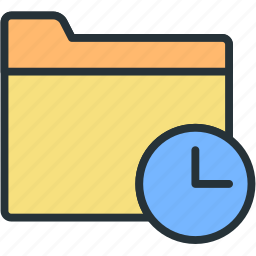 files, folder, timing icon