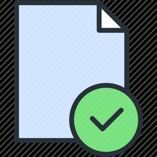 check, files icon