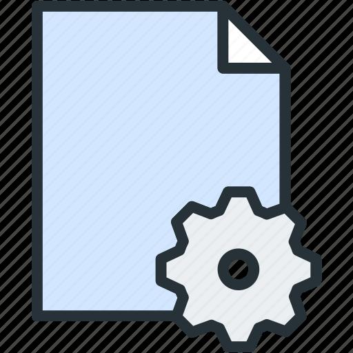 files, settings icon