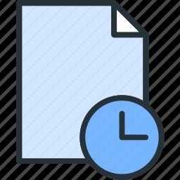 clock, files icon