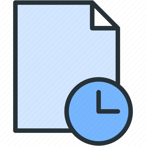 clock, files icon