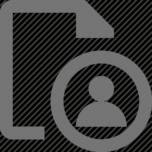 avitar, file, profile, user icon
