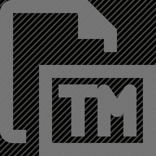 file, trademark icon
