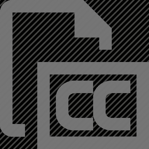 creative commons, file icon